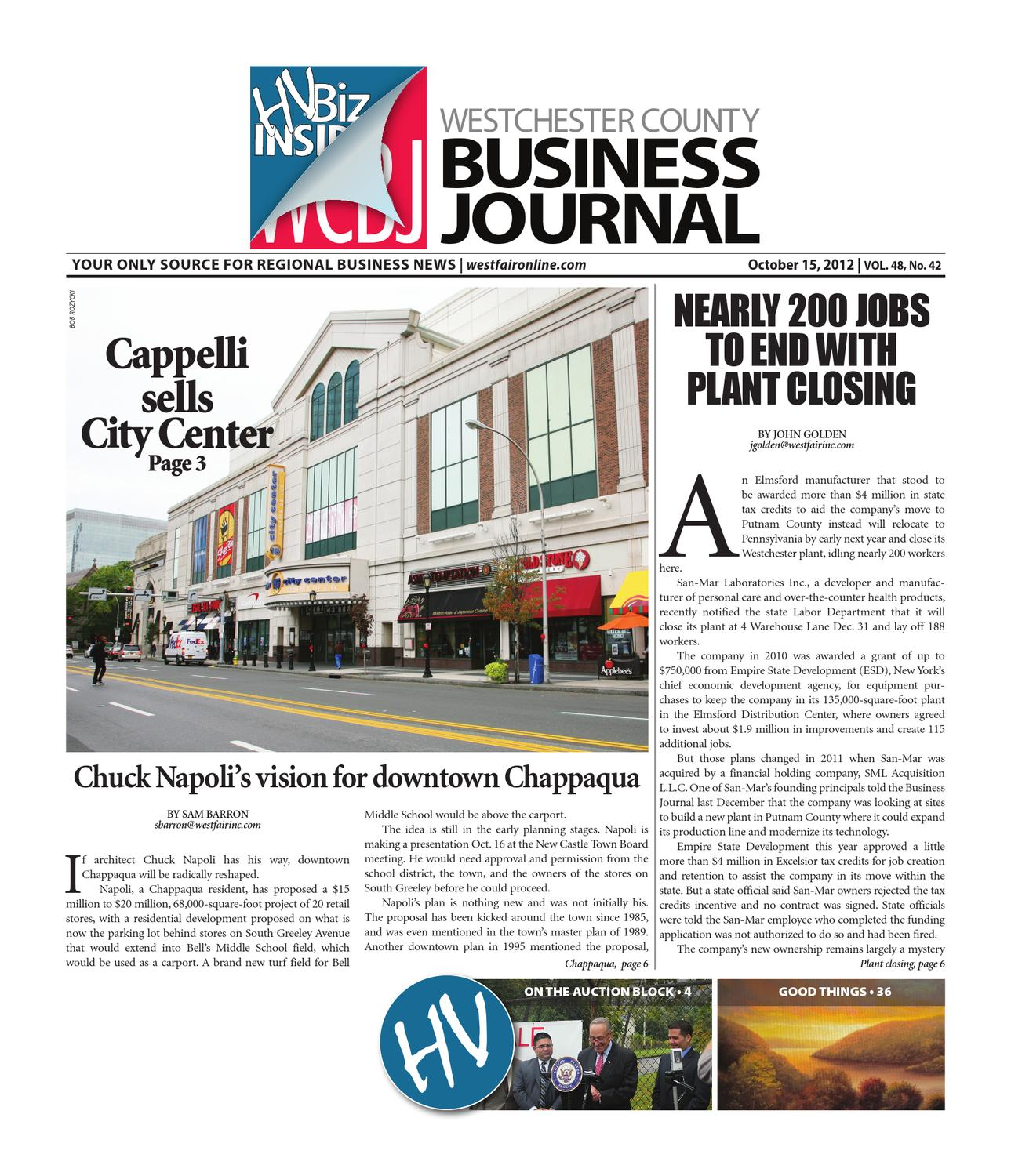 Westchester County Business Journal 10/15/2012 Issue by Wag Magazine - issuu