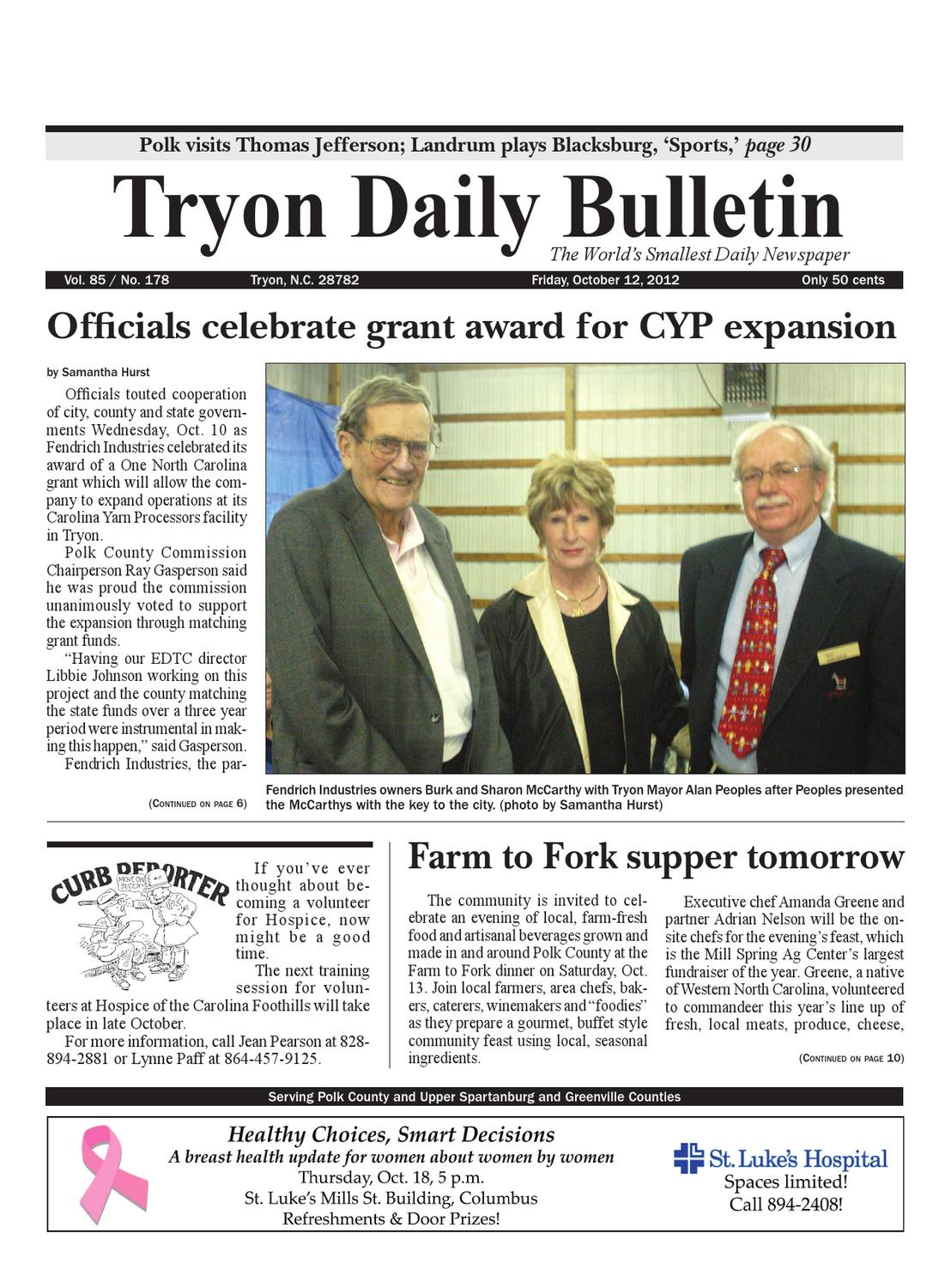 10-12-12 Daily Bulletin by Tryon Daily Bulletin - issuu