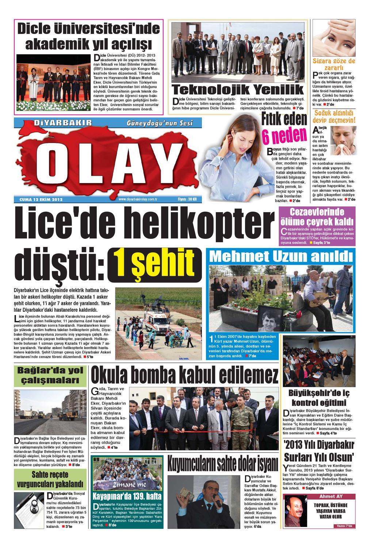 12 10 2012 Gazete Sayfalari By Diyarbakir Olaygazetesi Issuu