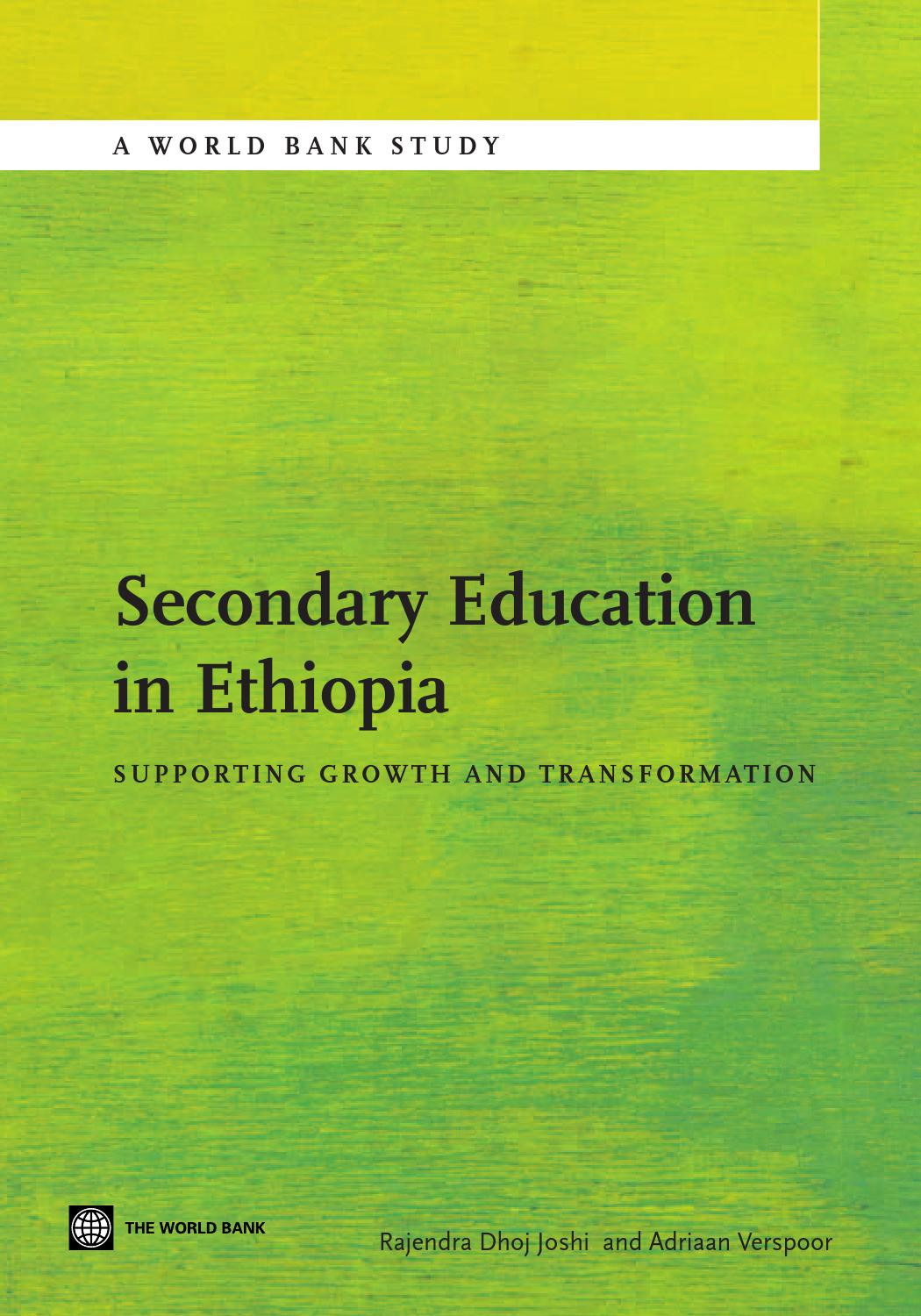 Secondary Education in Ethiopia by World Bank Group