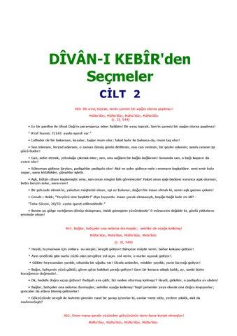 Divanikebirdensecmelercilt2 By Ufuk Tarabus Issuu