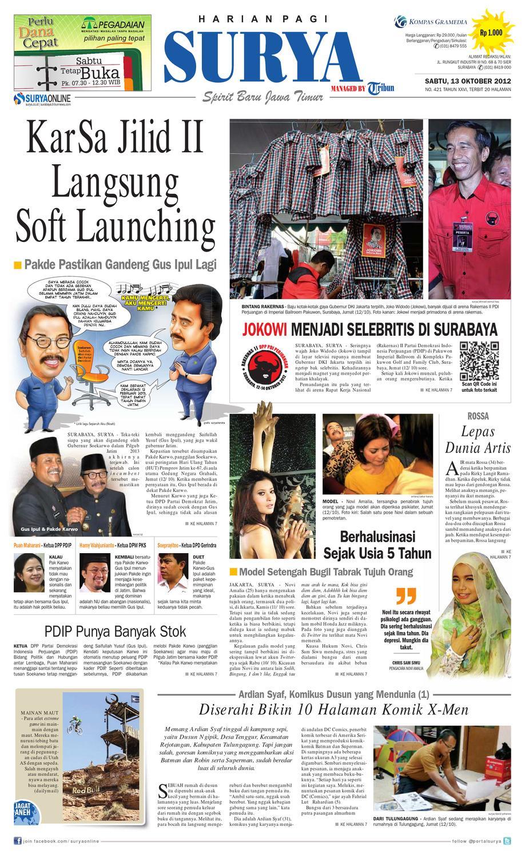 E Paper Surya Edisi 13 Oktober 2012 By Harian Issuu Gendongan Bayi Depan Mbg 6201 Free Ongkir Jabodetabek