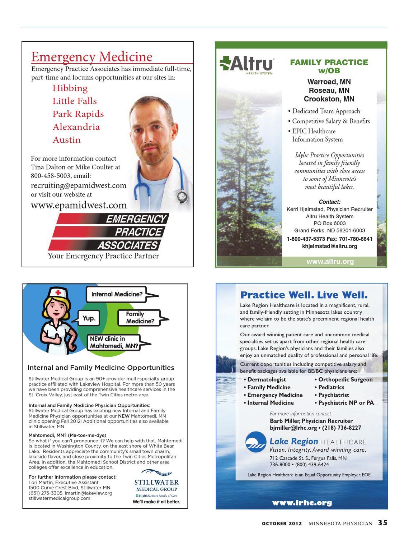 Minnesota Physician October 2012