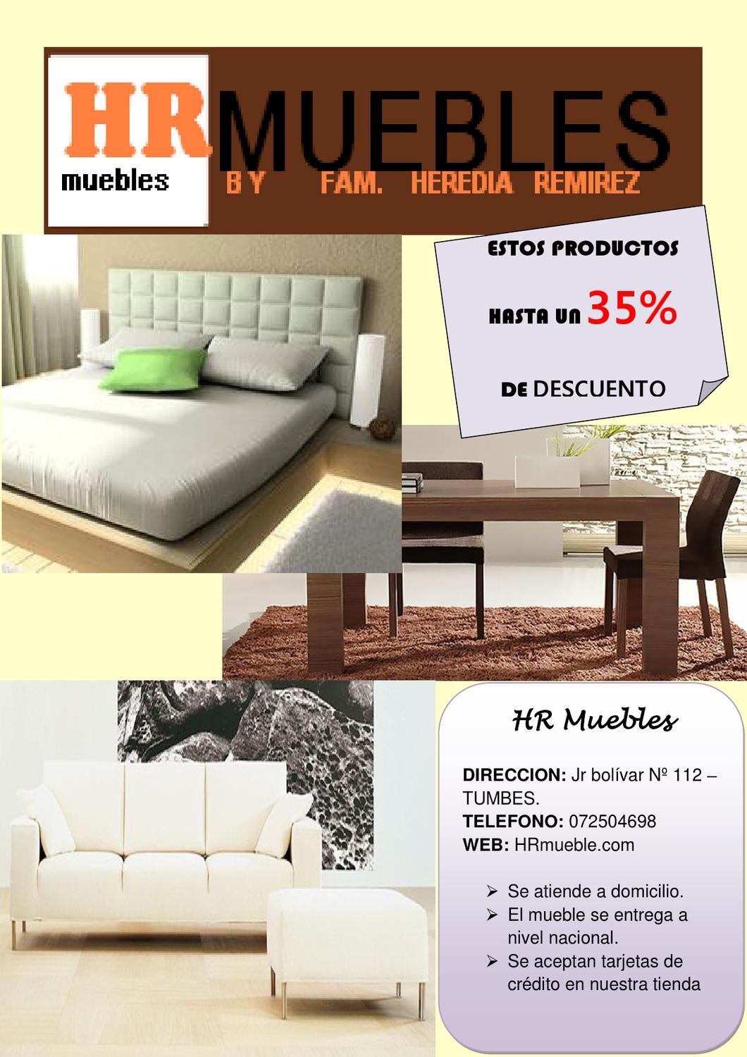 HR Muebles by Maricarmen Heredia Ramirez - issuu
