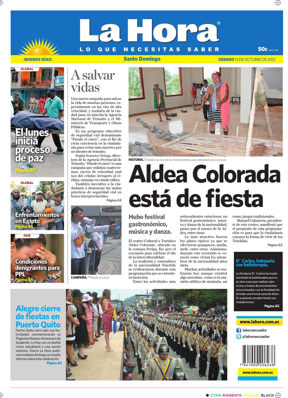 new arrival bd203 65bd0 Edición impresa Santo Domingo del 13 de octubre de 2012 by Diario La Hora  Ecuador - issuu