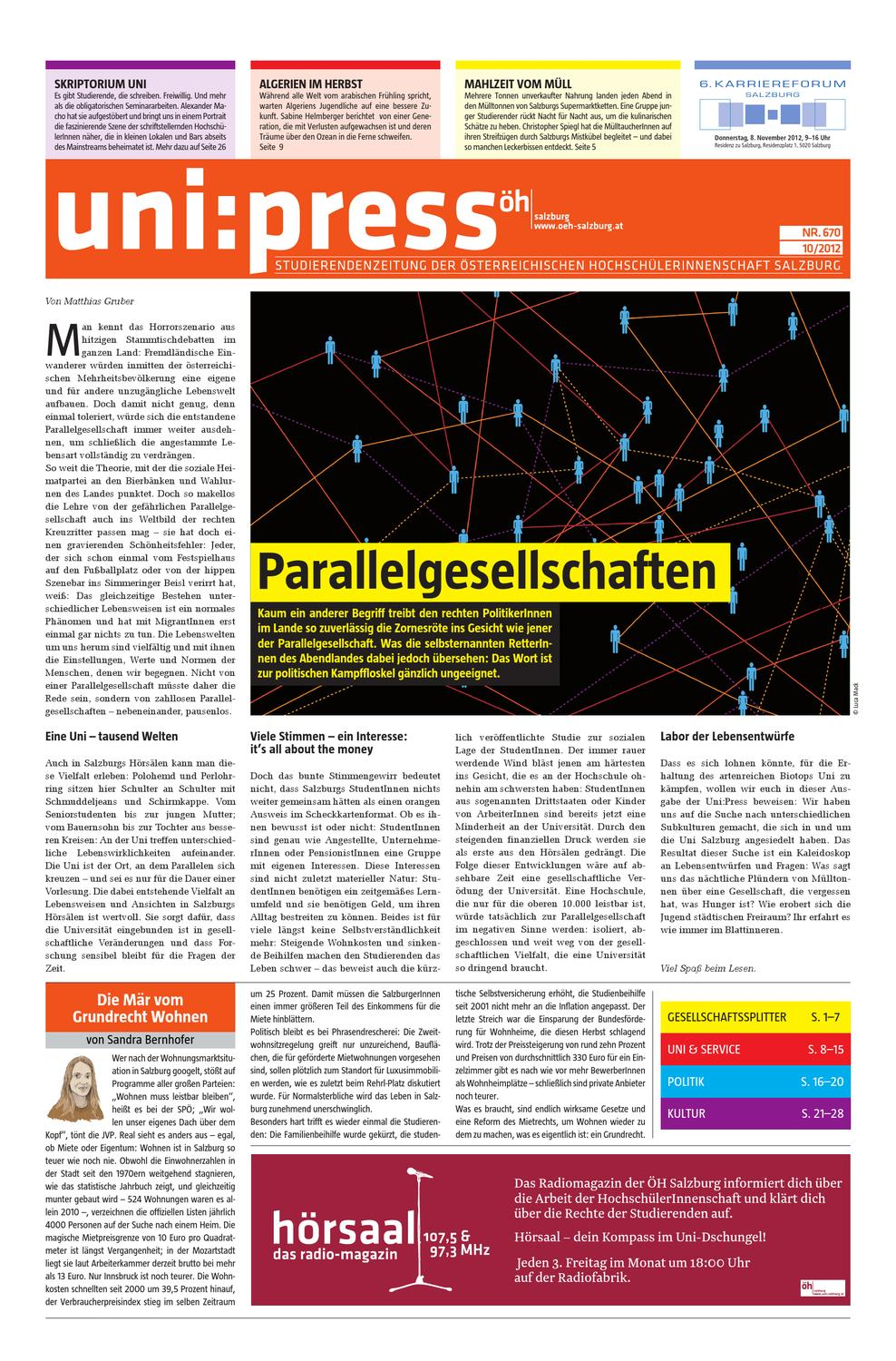Uni:Press # 670 (Okt  2012) by uni:press (ÖH Salzburg) - issuu