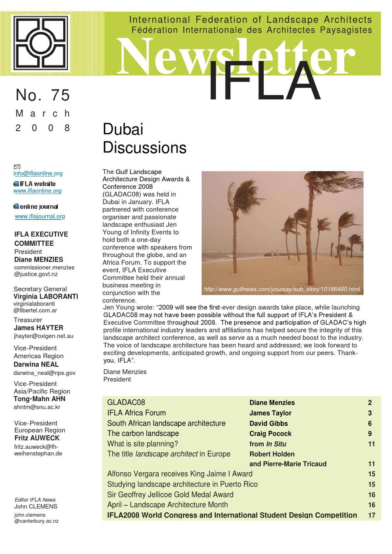 IFLA Newsletter # 75 by International Federation of