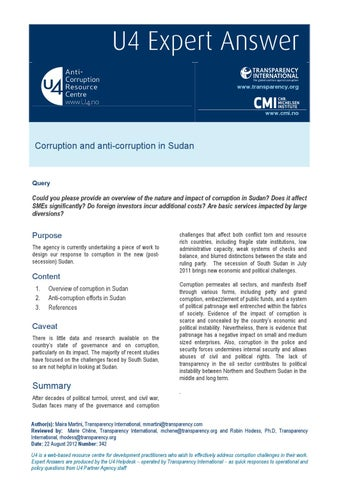 Corruption and development essay