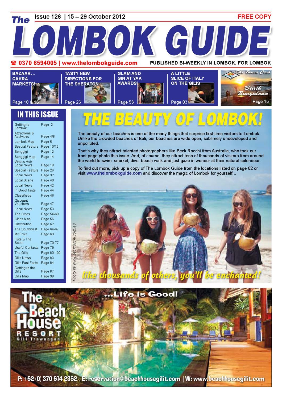 The Lombok Guide ~ Issue 126 by The Lombok Guide - issuu