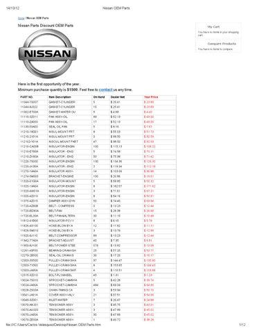Genuine Nissan 85071-7Z000 Bumper Finisher Bar