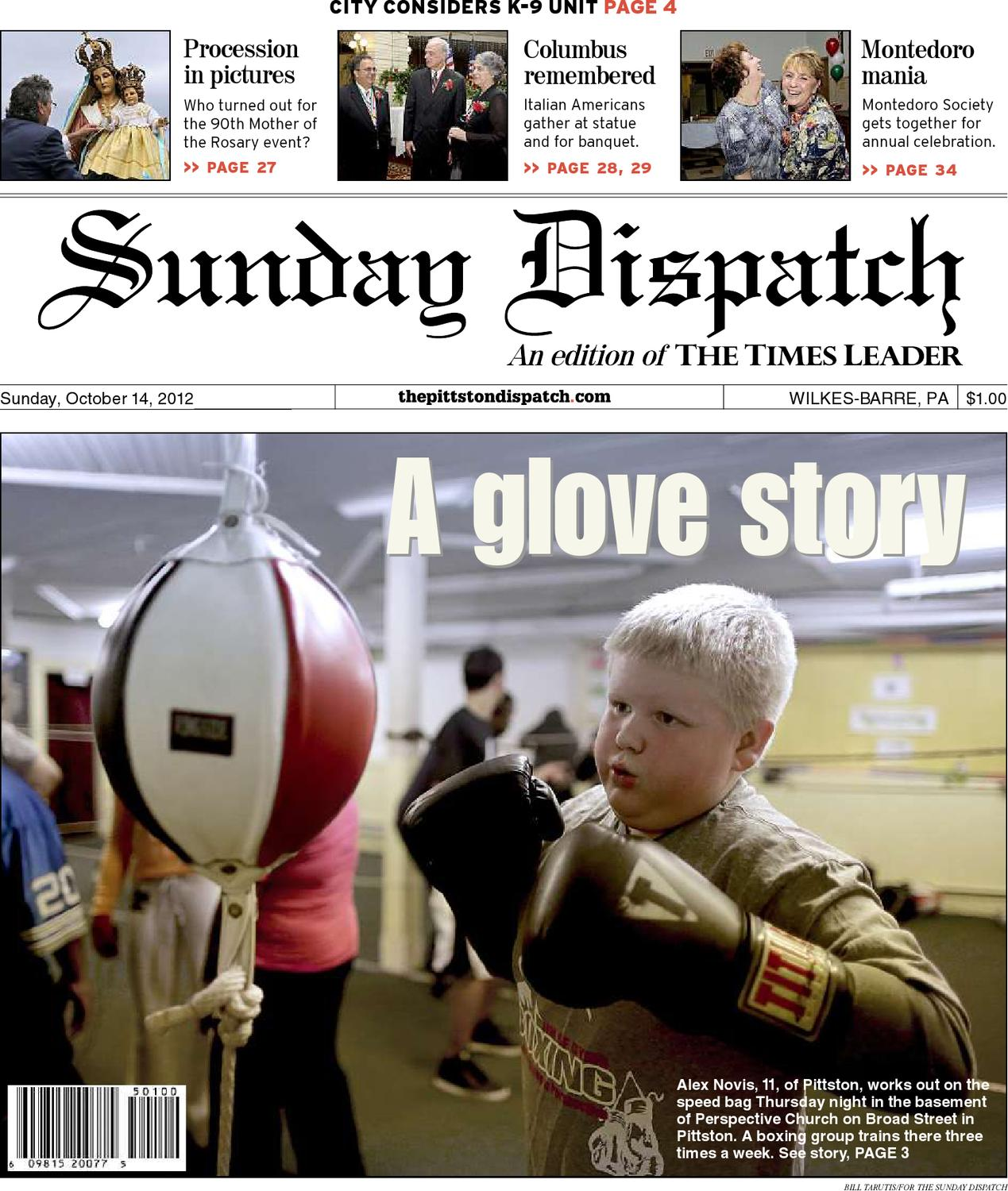 the pittston dispatch 10 14 2012 by the wilkes barre publishing
