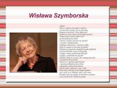 Wisława Szymborska By Bartek Wałęga Issuu