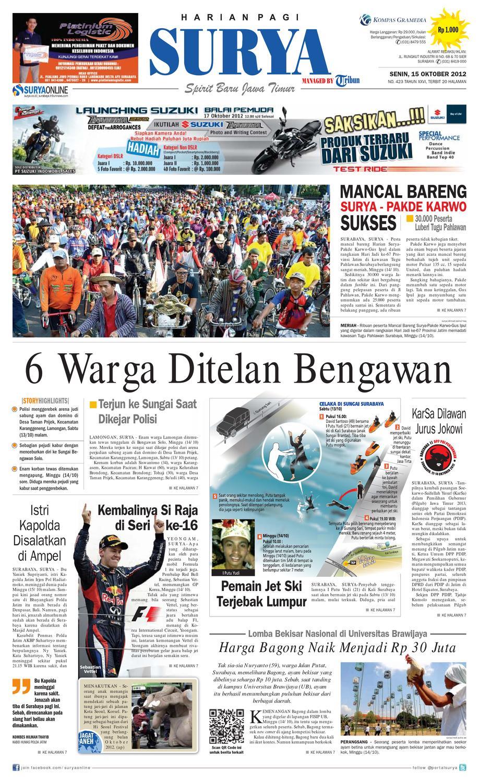 Epaper Surya 15 Oktober 2012 By Harian Issuu Produk Ukm Bumn Tas Phiton Kombinasi Coklat Krem