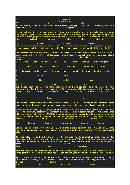 Rölanti hızı sensörü - fonksiyon ve fonksiyon