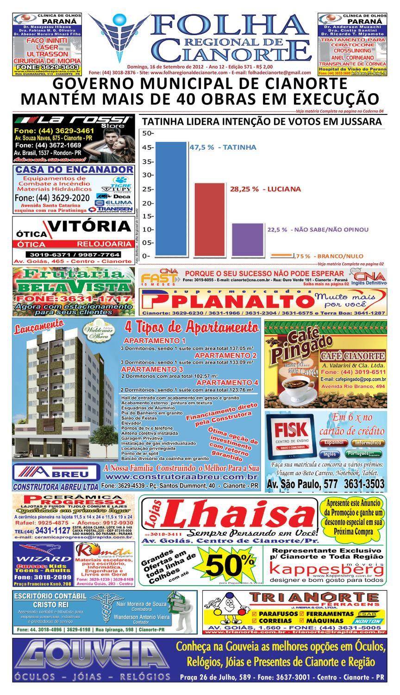 4b905a7d63 Folha Regional de Cianorte - Edicao 571 by Folha Regional de Cianorte -  issuu