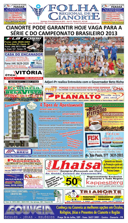 42336990df4 Folha Regional de Cianorte - Edicao 572 by Folha Regional de Cianorte -  issuu