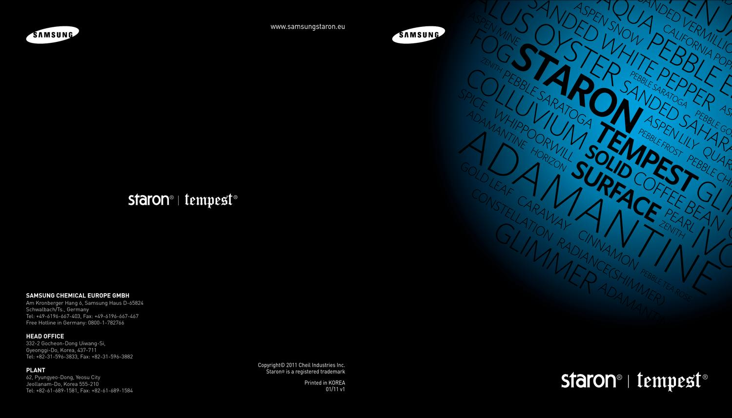 New colors collection Tempest of Samsung Staron by Philip Bogin - issuu