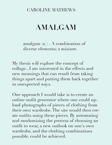 Amalgam by Caroline Mathews - issuu
