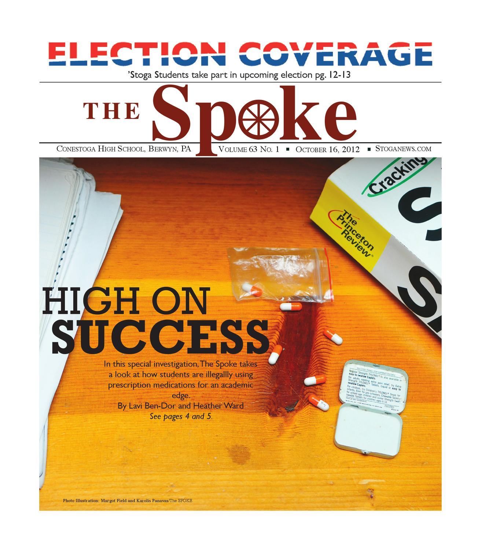 The Spoke October 2012 issue  Cover: Prescription drug abuse