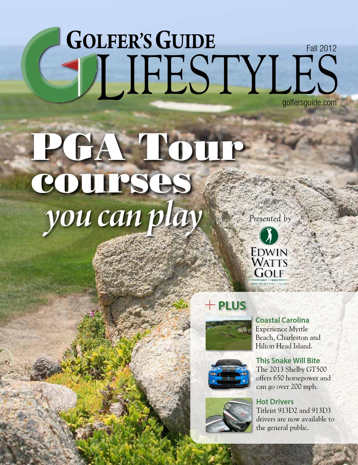 Golfer's Guide Lifestyles Fall 2012 by Golfers Guide
