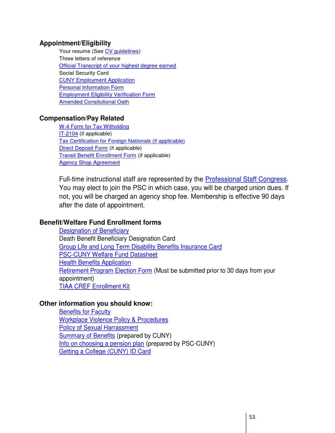 Faculty Handbook Mldbmcc Def By Modern Languages Departmentbmcc