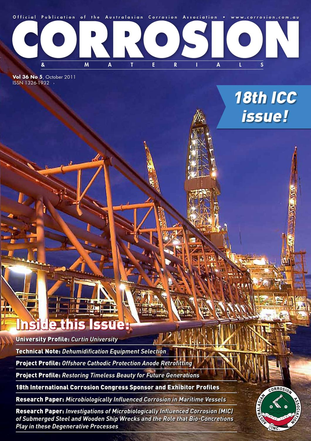 Corrosion & Materials October 2011 by Australasian Corrosion