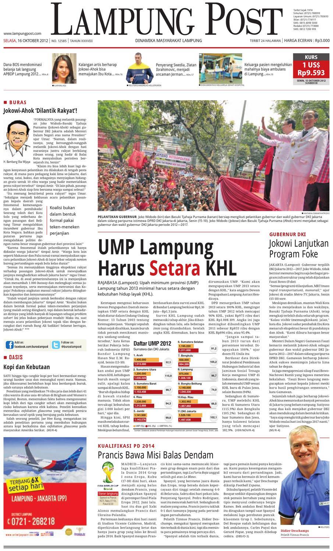 Lampungpost Edisi 16 Oktober 2012 By Lampung Post Issuu Kopi Bos Ila Arifin Amr