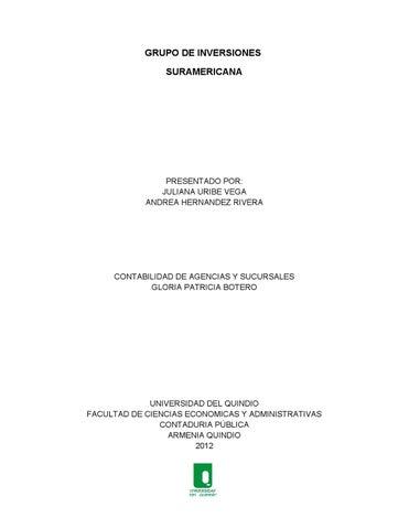 Grupo De Inversiones Suramericana By Andrea Hernandez Rivera