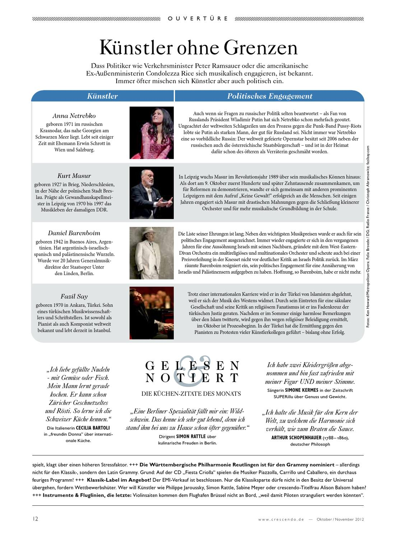 Crescendo 6 2012 Premium Ausgabe Oktober November 2012 By