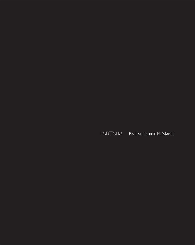 Kai Hennemann Portfolio 2012 by Kai Hennemann - issuu