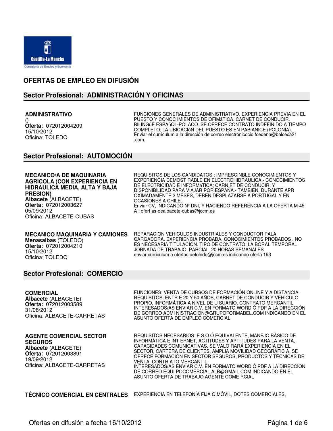 Ofertas laborales by Centro de la Mujer Tarazona de la Mancha - issuu