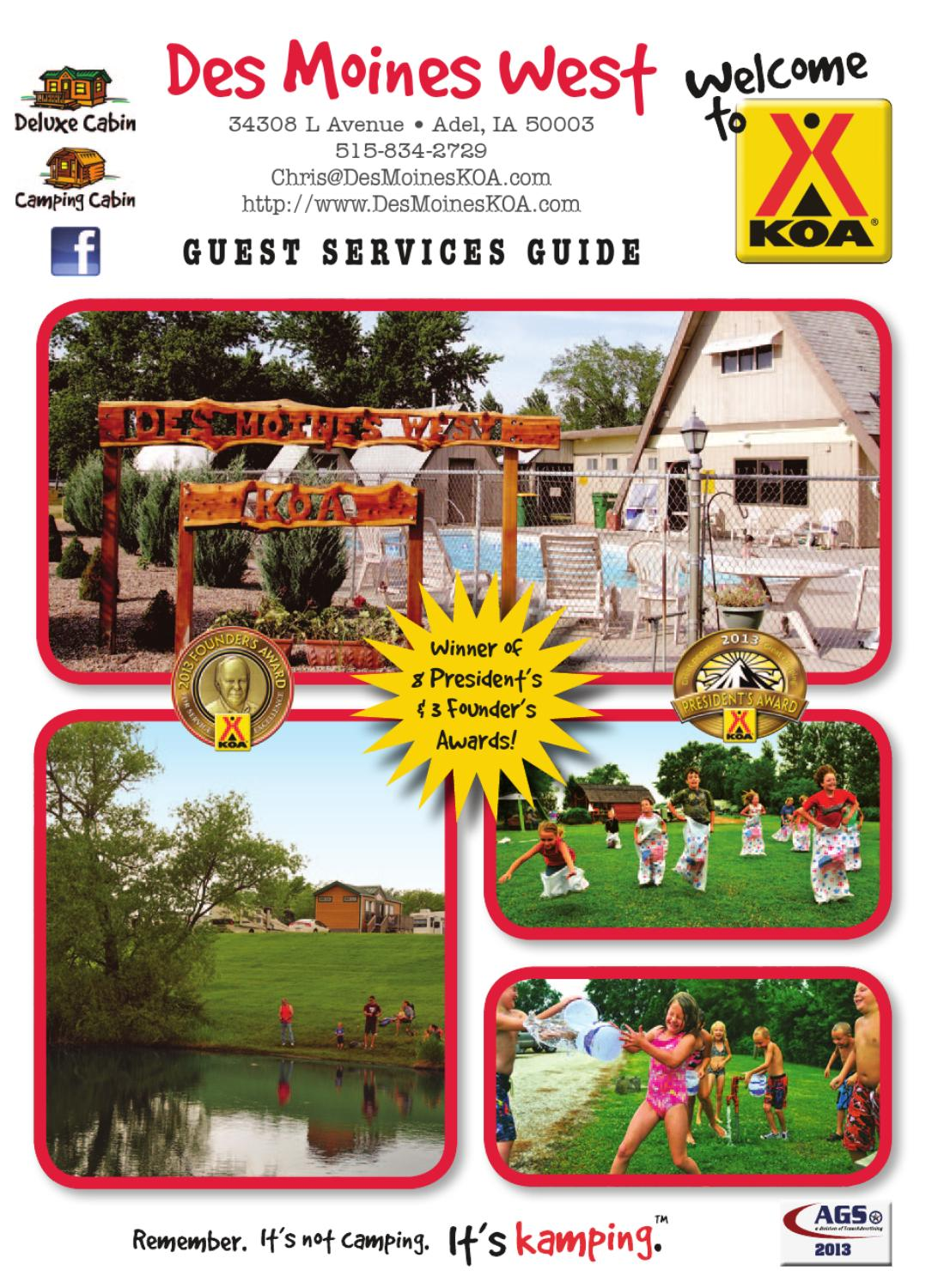 Des moines west koa by ags texas advertising issuu for Mckee motors des moines