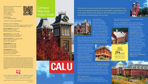 Campus Map By California University Of Pennsylvania Issuu