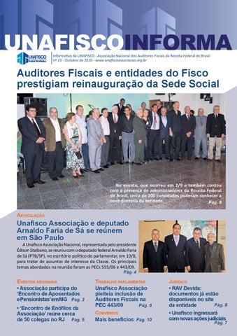 Informativo da UNAFISCO - Associação Nacional dos Auditores Fiscais da  Receita Federal do Brasil nº 23 - Outubro de 2010 -  www.unafiscoassociacao.org.br 2c392c0d7c33e