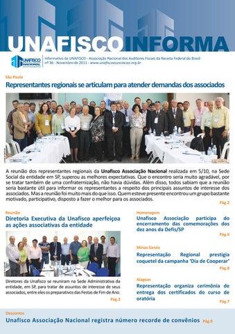 Informativo da UNAFISCO - Associação Nacional dos Auditores Fiscais da  Receita Federal do Brasil nº 36 - Novembro de 2011 -  www.unafiscoassociacao.org.br 6cda84b36230e