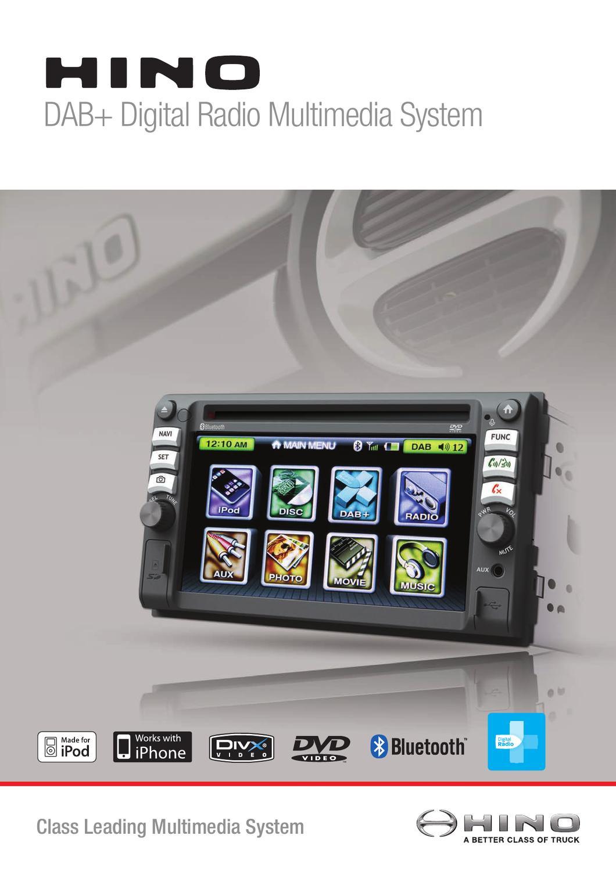 Hino DAB+ Digital Radio Multimedia System by Hino Australia