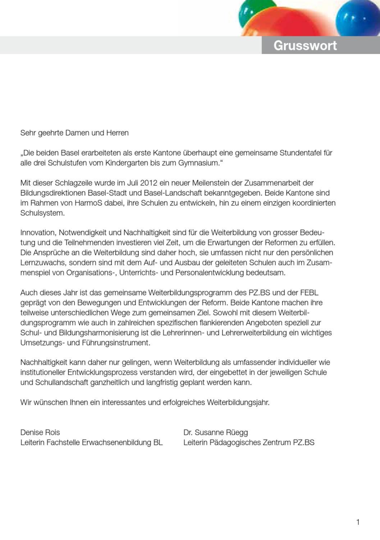 Weiterbildungsangebote 2013 von FEBL und PZ.BS by Gisin Software ...