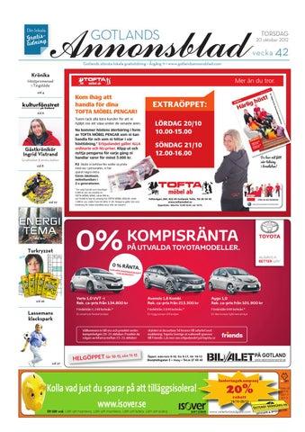 the latest d3971 02927 Gotlands Annonsblad 2012 v.42 by Svenska Civildatalogerna AB - issuu