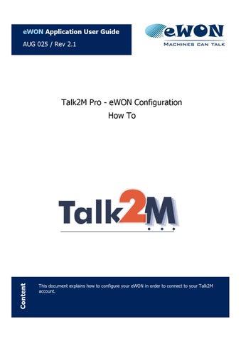Tal2M Pro - eWON Configuration by pierre becquart - issuu