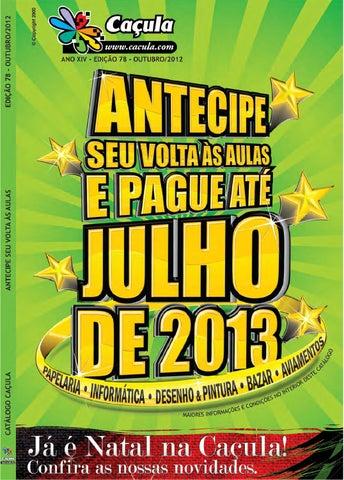 27a64afe0 Catálogo Caçula, Edição 78 by Caçula Papelaria - issuu