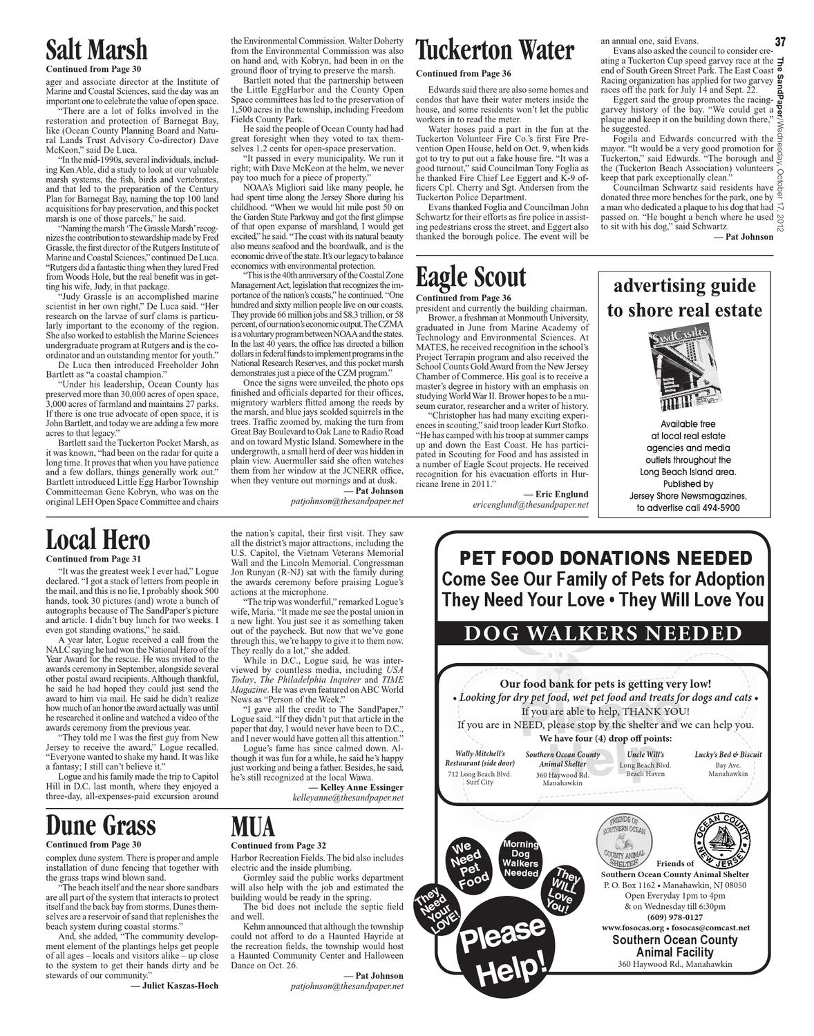 The SandPaper, October 17, 2012, Vol  38 No  41 by The