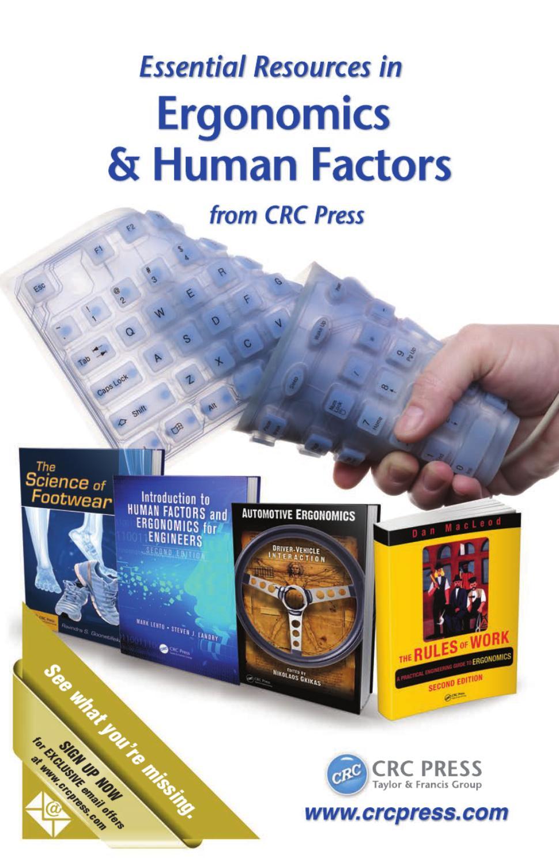 Ergonomics Human Factors By Crc Press Issuu