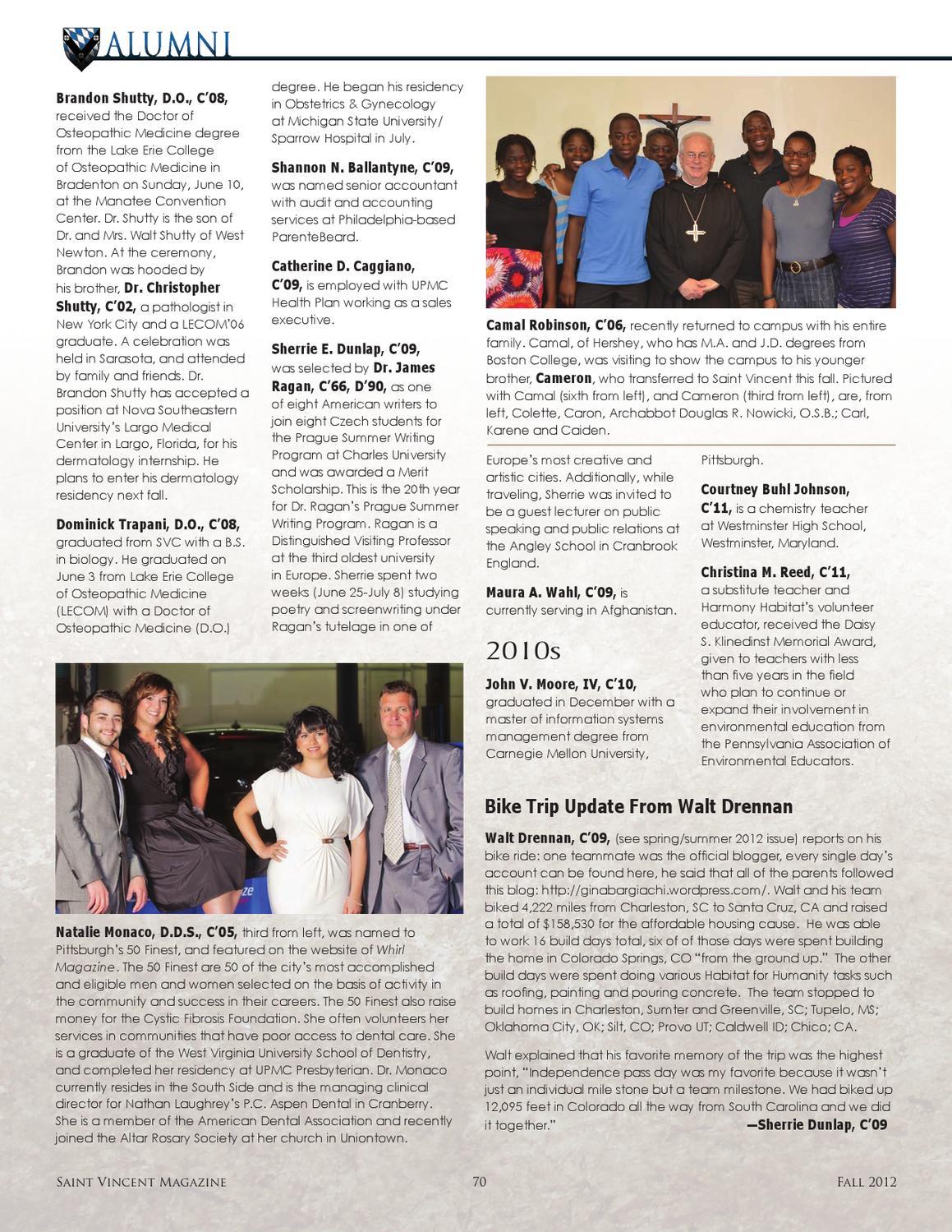 Saint Vincent Magazine Fall 2012 by Saint Vincent College