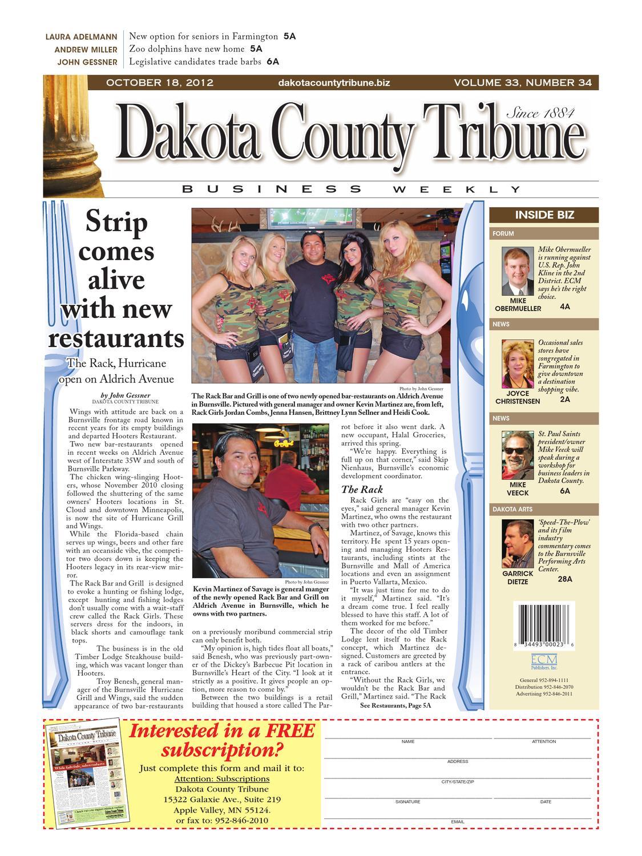 10/18/2012 - dakota county tribune business weekly by dakota