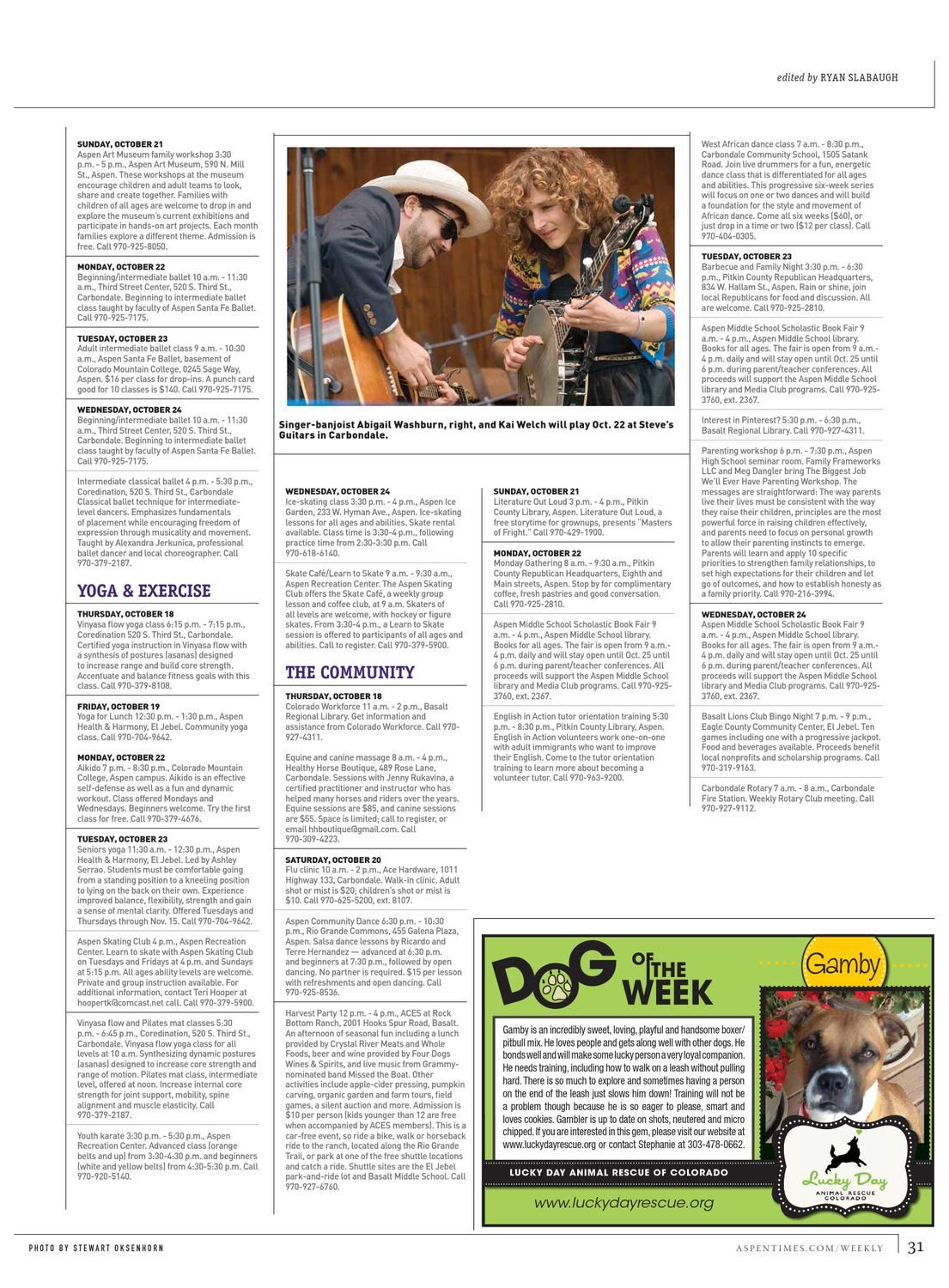Aspen Times Weekly: Oct  18 edition by Aspen Times Weekly - issuu