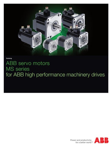 MS Series Servo Motor Catalog
