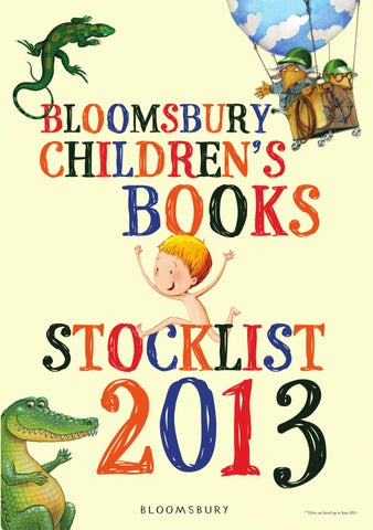 Bloomsbury Childrens Stocklist Books For 0 7 Years By Bloomsbury