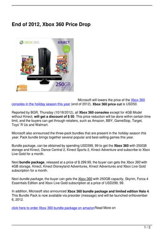 End of 2012, Xbox 360 Price Drop by mona lisa - issuu