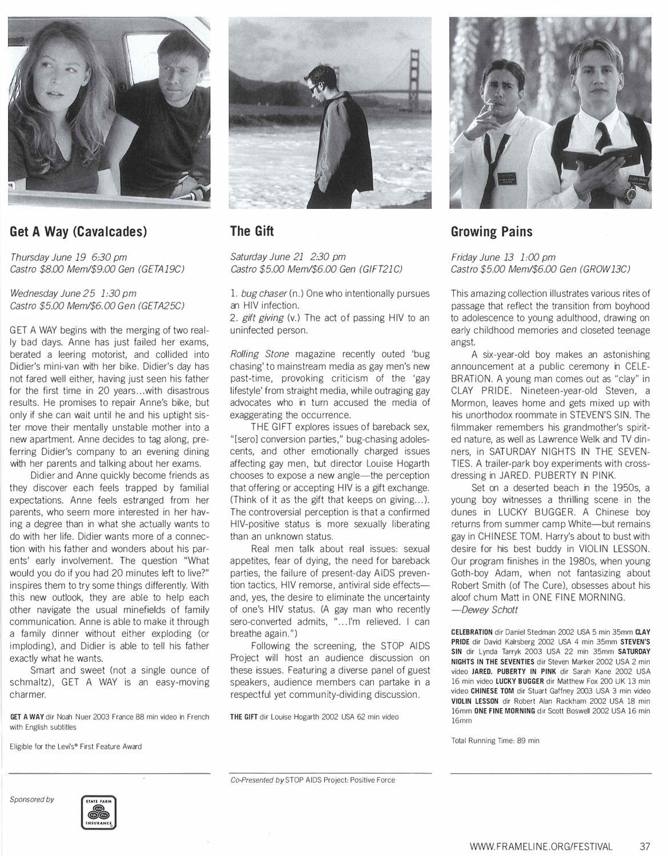 27th San Francisco International Lesbian & Gay Film Festival