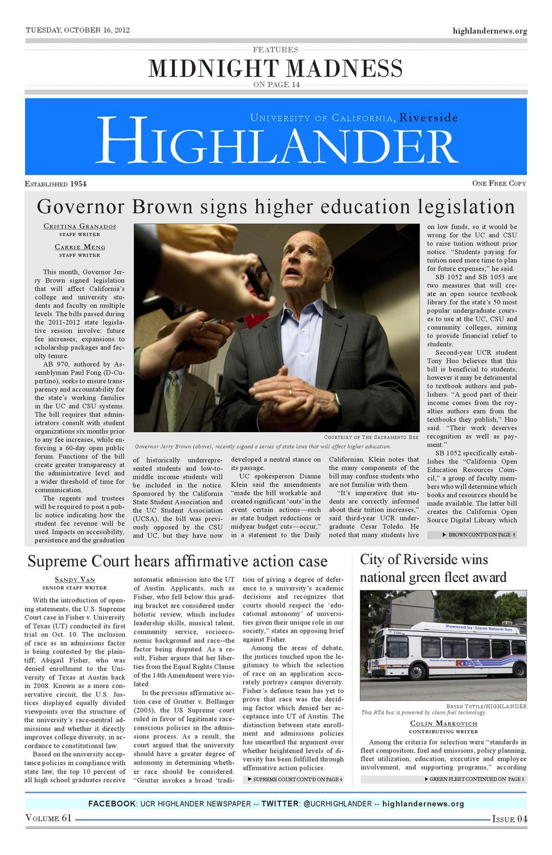 21f4cdc3c14f1 Volume 61 Issue 04 by UCR Highlander Newspaper - issuu